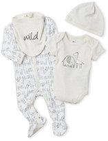 Petit Lem Newborn/Infant) 4-Piece Elephant & Giraffe Printed Set