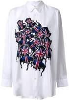 Junya Watanabe flag print shirt