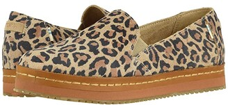 Toms Palma Leather Wrap (Desert Tan Leopard Print Suede) Women's Shoes