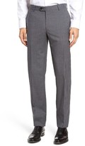 Pal Zileri Men's Flat Front Check Wool Trousers