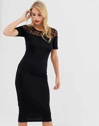 French Connection Leah Lace sleeveless midi dress
