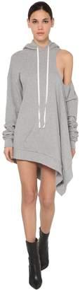 Unravel Cut Out Asymmetric Cotton Jersey Dress