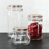 Crate & Barrel Fido Jars with Copper Clamp Lid