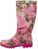 Emilio Pucci Abstract Print Rain Boots