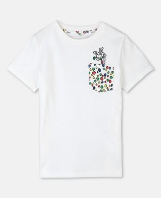 Stella McCartney cotton t-shirt with giraffe dots print