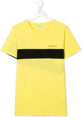 Givenchy Kids TEEN two-tone printed T-shirt