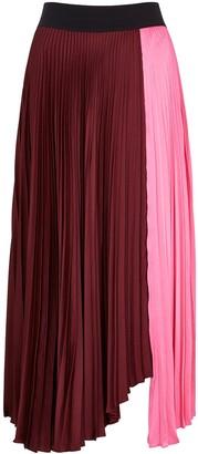 A.L.C. Grainger pink and burgundy satin skirt