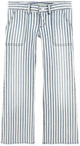 Bonpoint Striped girl flared fit jeans