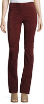 Joseph Lex Suede Boot-Cut Pants, Ruby