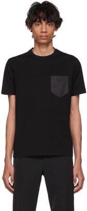 Prada Black Satin Pocket T-Shirt