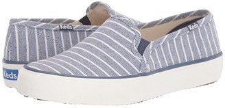 Keds Double Decker Breton Stripe (Blue) Women's Shoes