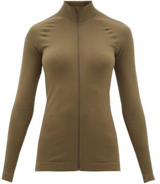 Falke High-neck Cotton-jersey Track Top - Womens - Dark Green