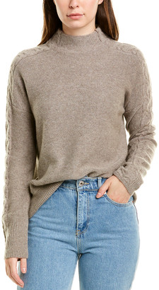 Forte Cashmere Mixed Rib Cashmere Sweater