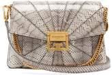 Givenchy Gv3 Small Snakeskin Cross-body Bag - Womens - White Multi