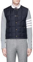 Thom Browne Quilted wool twill down vest