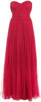 Alexander McQueen Strapless pleated chiffon gown