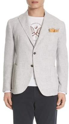 Eleventy Slim Fit Plaid Linen Blend Sport Coat