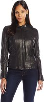 Cole Haan Women's Goat Leather Jacket