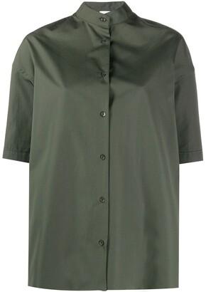 Aspesi Boxy Fit Asymmetric Hem Shirt
