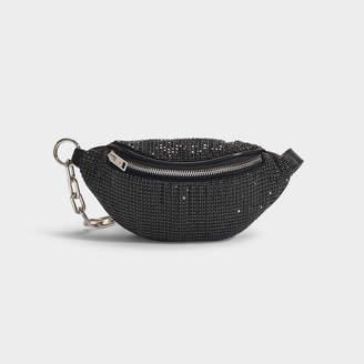 Alexander Wang Attica Soft Mini Fanny Crossbody Bag In Black Rhinestones