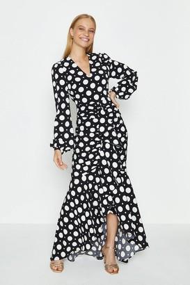 Coast Polkadot Waterfall Maxi Dress