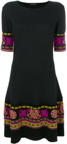 Etro embroidered hem dress - women - Polyester/Viscose/Wool - 40