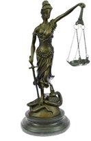 Bronzioni Sculpture Statue...LIVRAISON GRATUITE...Avocat Droit Lady Blind Justice Art(YRD-026-7-UK) Statues Figurines Figurine Nu bureau et décoration pour la maison Collectibles Premier jour Vente Traiter Cadeaux