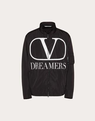 Valentino Vlogo Dreamers Bomber Man Black/white Polyamide 100% 44