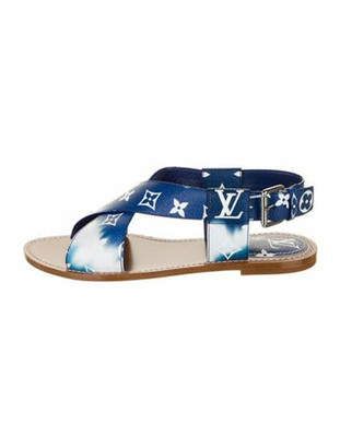 Louis Vuitton Escale Palma Leather Gladiator Sandals Blue