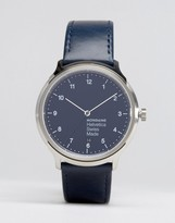 Mondaine Helvetica No1 Regular Watch in Navy 40mm