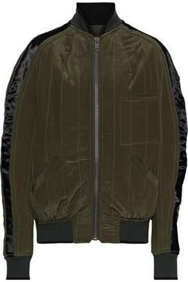 Haider Ackermann Satin-trimmed Quilted Silk Bomber Jacket