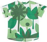 Il Gufo Palm-Leaf-Print Cotton Blouse