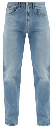 Jeanerica Jeans & Co. - Tm005 Cotton-blend Tapered-leg Jeans - Blue