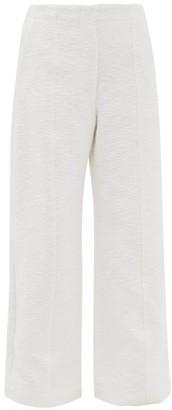 Raey Wide-leg Cotton-blend Boucle Trousers - White
