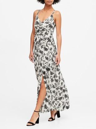 Banana Republic Strappy Ruched Maxi Dress