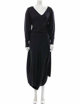 Jacquemus V-Neck Long Dress Black