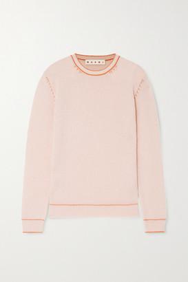 Marni Topstitched Cashmere Sweater - Pastel pink