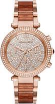 MICHAEL Michael Kors 39mm Crystal Parker Bracelet Watch, Rose Golden