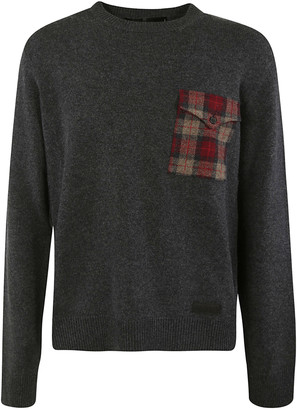 DSQUARED2 Patched Check Pocket Sweater