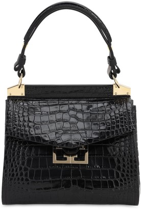 Givenchy SMALL MYSTIC CROC EMBOSSED LEATHER BAG