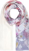 Accessorize Arabella Ombre Floral Silk Scarf