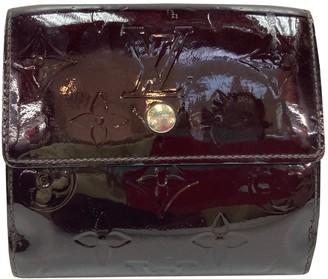 Louis Vuitton Virtuose Burgundy Patent leather Wallets