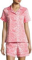 BedHead Wild Thing Shortie Pajama Set, Coral/Ivory, Plus Size