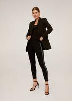MANGO Beaded detail leggings black - XS - Women