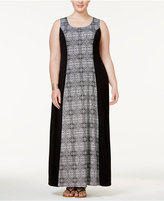 NY Collection Plus Size Colorblocked Maxi Dress