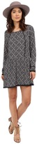 Only Nena Long Sleeve Lace All Over Print Dress