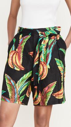Farm Rio Preta Banana Linen Shorts
