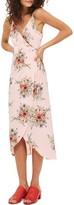 Topshop Women's Floral Wrap Slipdress