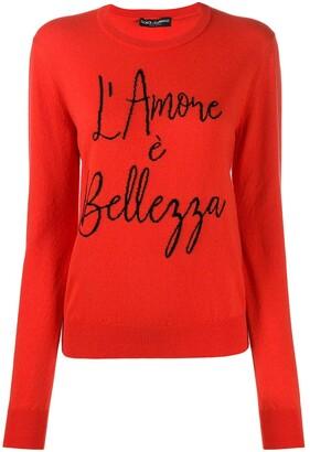 Dolce & Gabbana Intarsia-Knit Jumper