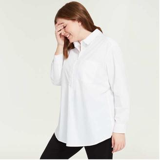 Joe Fresh Women+ Side Panel Shirt, White (Size 3X)